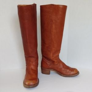 Frye brown leather campus boots 5.5B